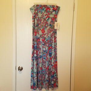 NWT'S Lularoe Flower Power Maxi Skirt Size Large